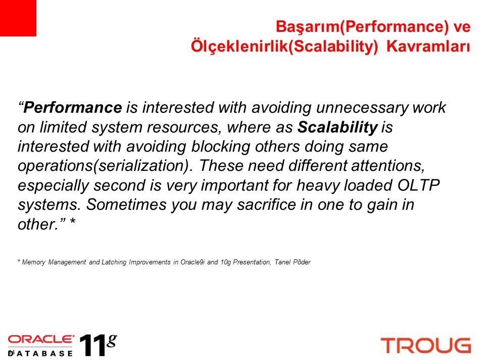 Başarım(Performance) ve Ölçeklenirlik(Scalability) Kavramları