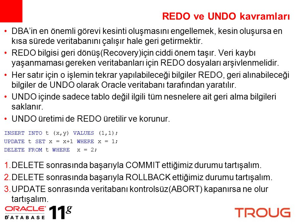 REDO ve UNDO kavramları