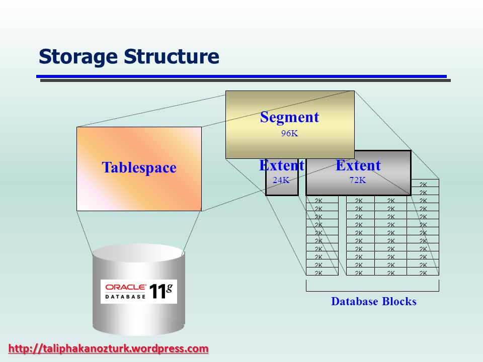 Storage Structure Segment Tablespace Extent Database Blocks