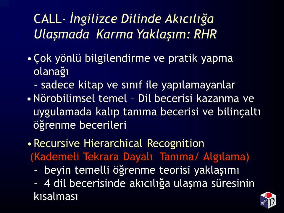 CALL- İngilizce Dilinde Akıcılığa Ulaşmada Karma Yaklaşım: RHR
