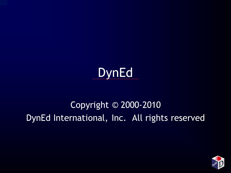 Copyright © 2000-2010 DynEd International, Inc. All rights reserved