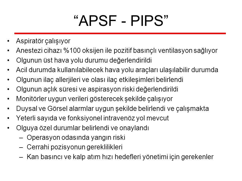 APSF - PIPS Aspiratör çalışıyor