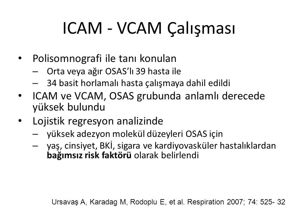 ICAM - VCAM Çalışması Polisomnografi ile tanı konulan