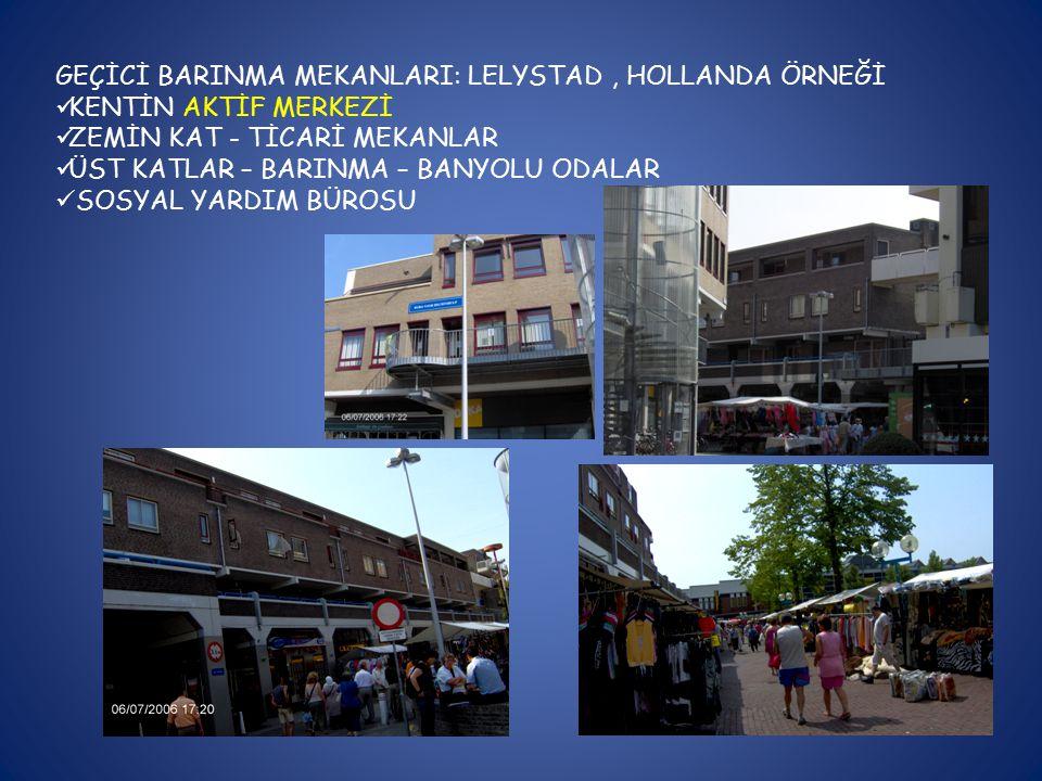 GEÇİCİ BARINMA MEKANLARI: LELYSTAD , HOLLANDA ÖRNEĞİ