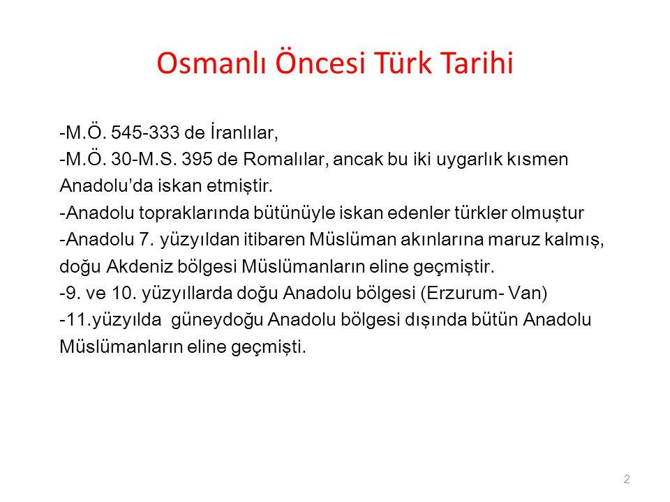 Osmanlı Öncesi Türk Tarihi