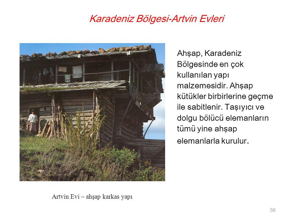 Karadeniz Bölgesi-Artvin Evleri