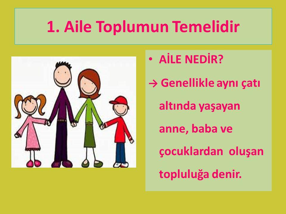 1. Aile Toplumun Temelidir