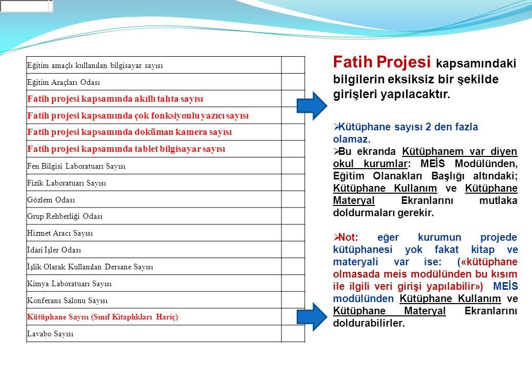 Fatih Projesi kapsamındaki