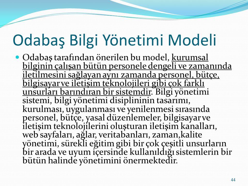 Odabaş Bilgi Yönetimi Modeli