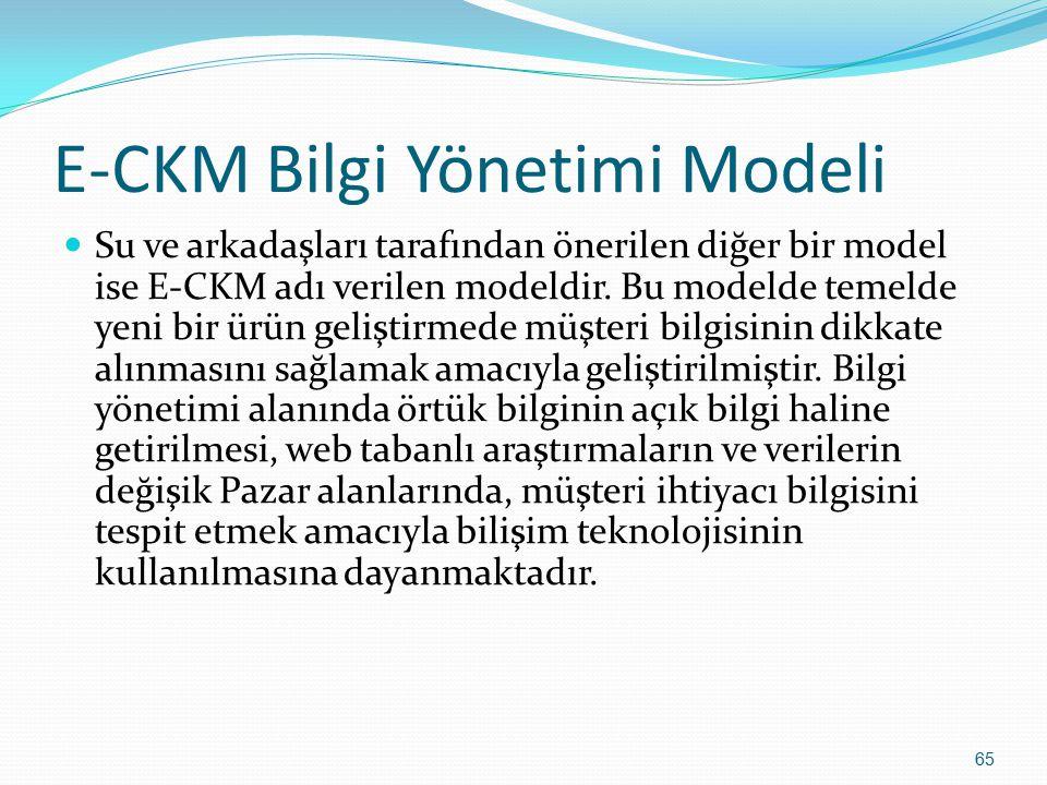 E-CKM Bilgi Yönetimi Modeli