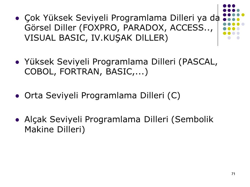 Orta Seviyeli Programlama Dilleri (C)