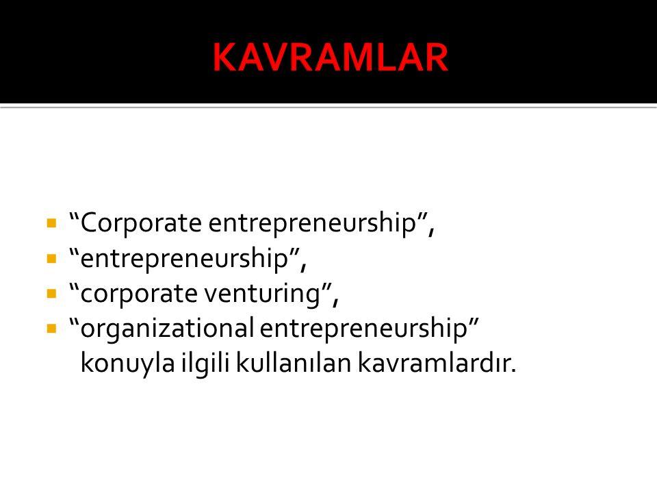 KAVRAMLAR Corporate entrepreneurship , entrepreneurship ,