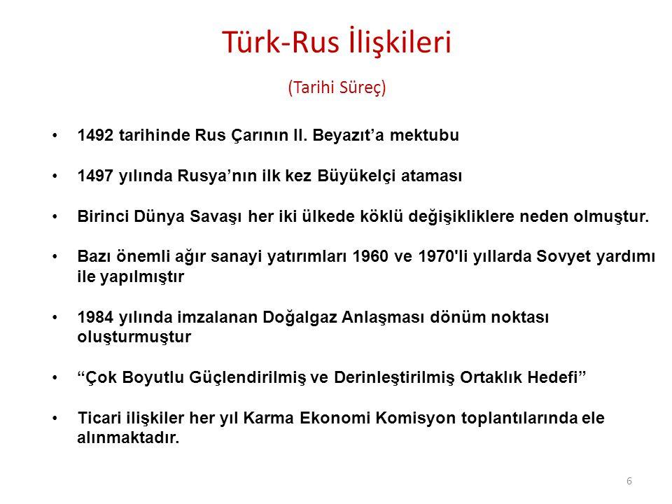 Türk-Rus İlişkileri (Tarihi Süreç)