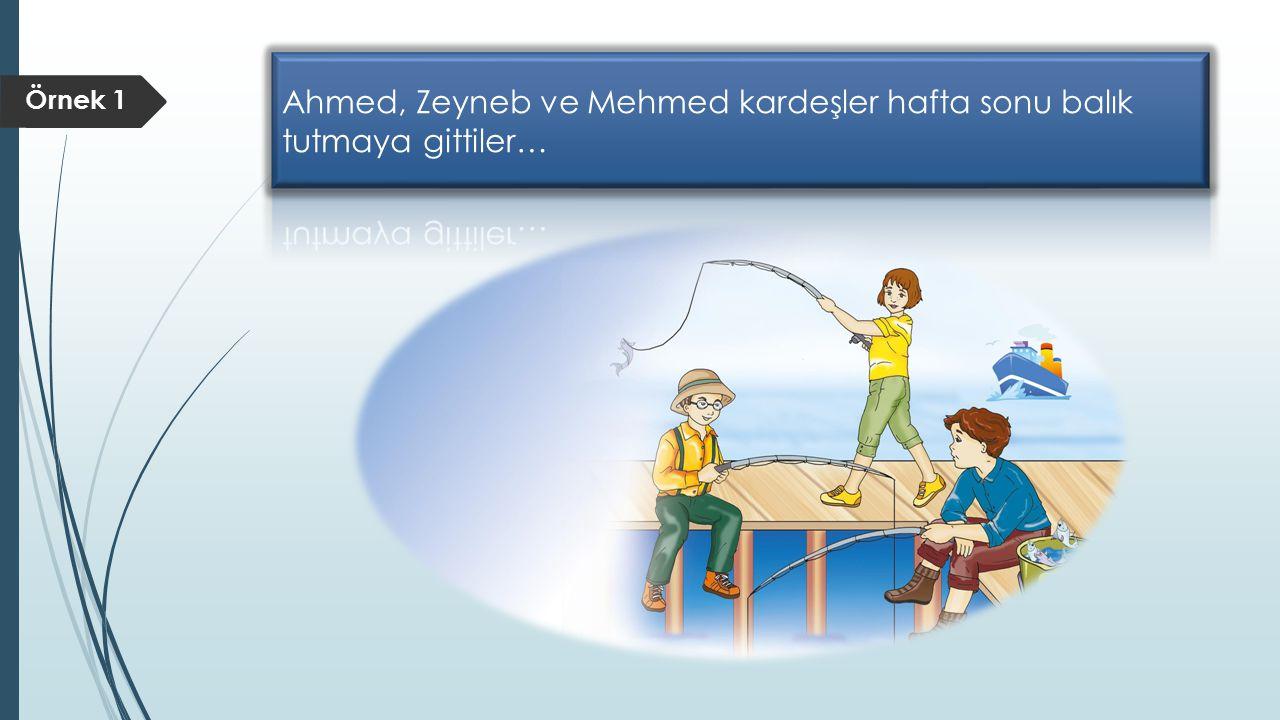 Ahmed, Zeyneb ve Mehmed kardeşler hafta sonu balık tutmaya gittiler…