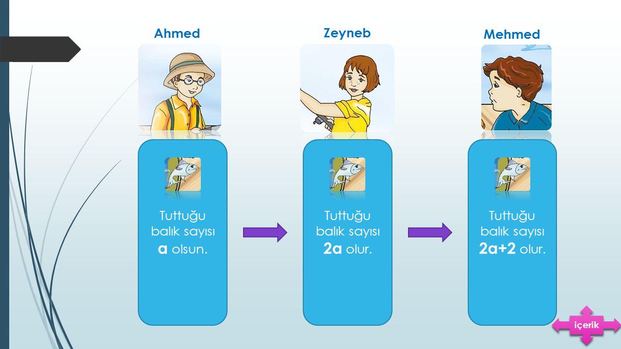 Ahmed Zeyneb Mehmed Tuttuğu balık sayısı a olsun. Tuttuğu