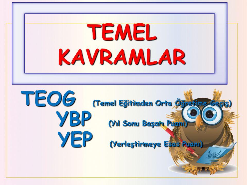 TEMEL KAVRAMLAR TEOG (Temel Eğitimden Orta Öğretime Geçiş)