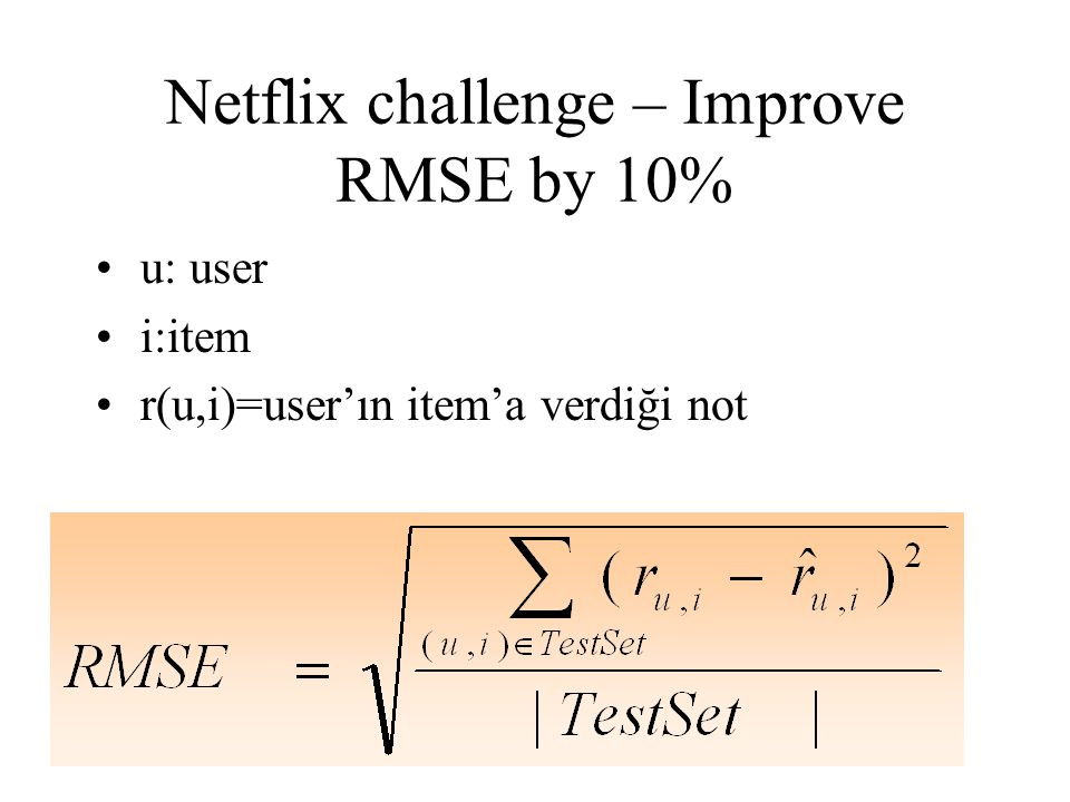 Netflix challenge – Improve RMSE by 10%