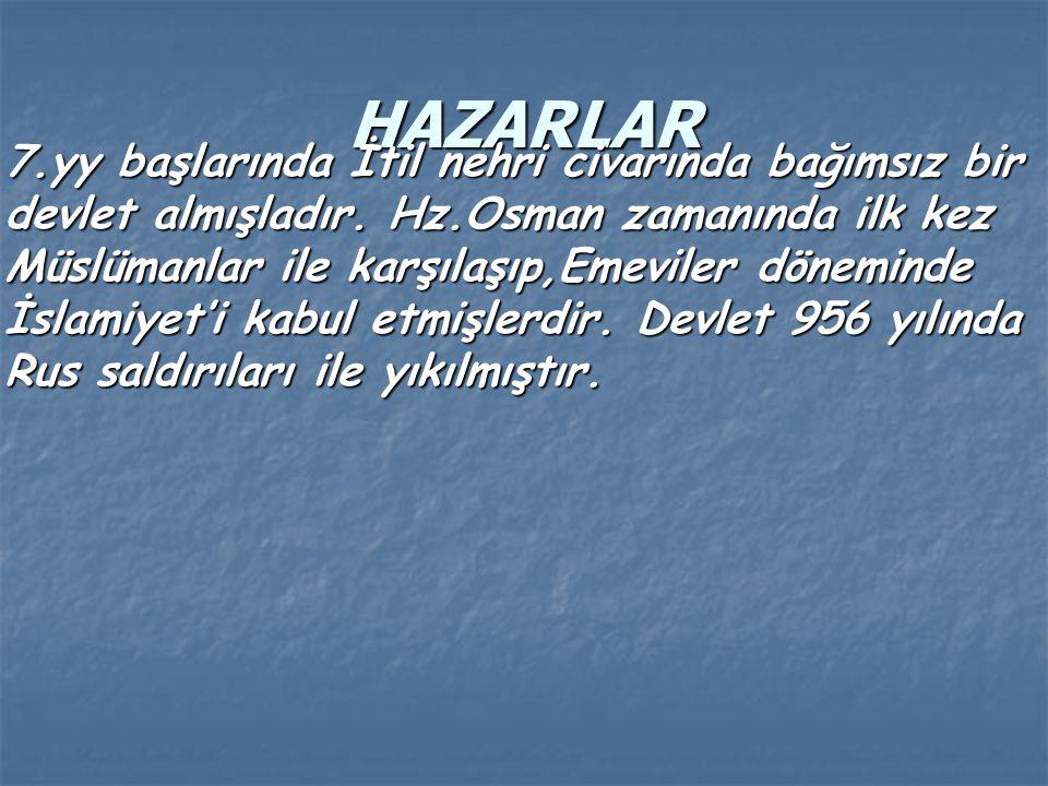 HAZARLAR