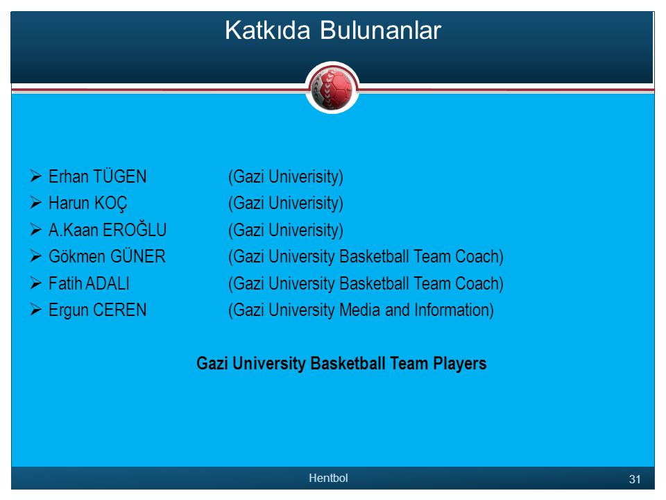 Gazi University Basketball Team Players