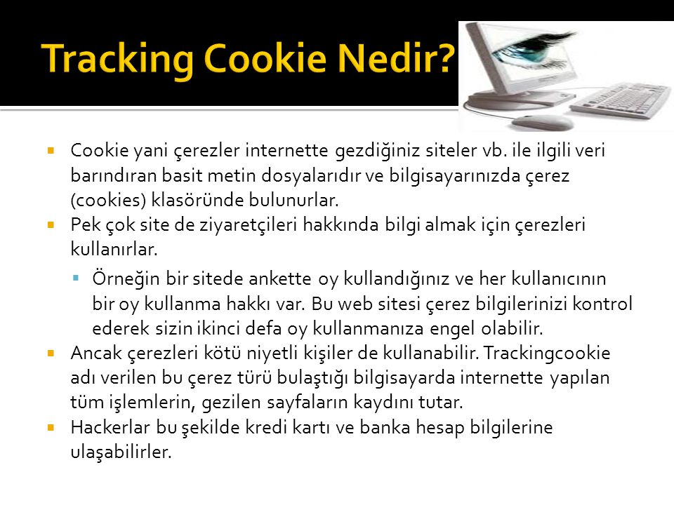 Tracking Cookie Nedir