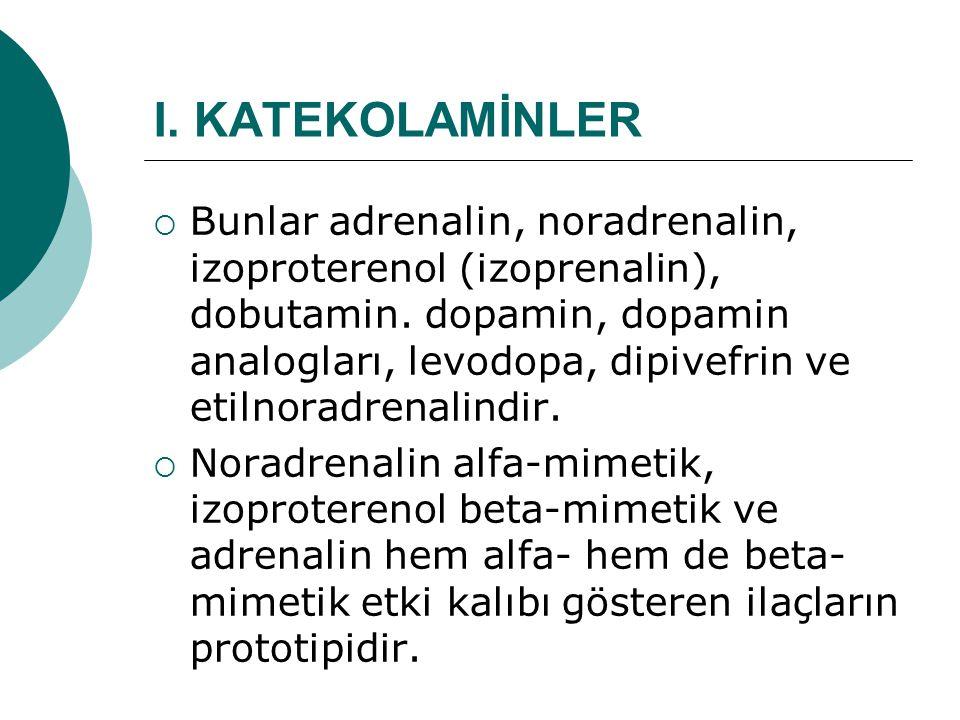 I. KATEKOLAMİNLER