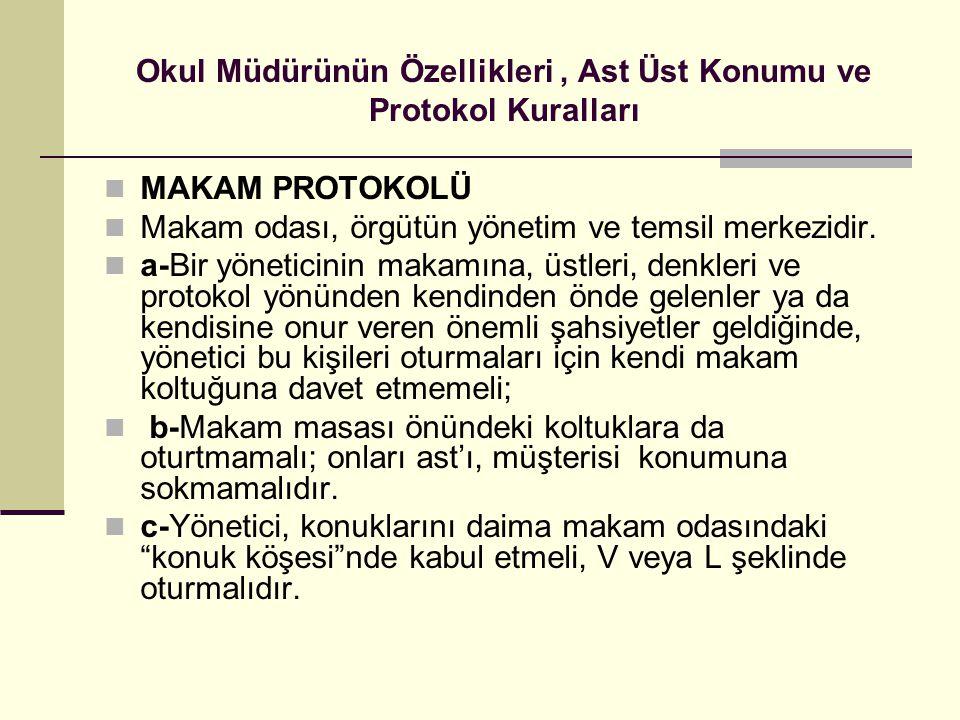Okul Müdürünün Özellikleri , Ast Üst Konumu ve Protokol Kuralları