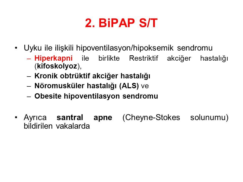 2. BiPAP S/T Uyku ile ilişkili hipoventilasyon/hipoksemik sendromu