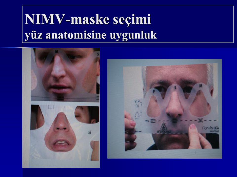 NIMV-maske seçimi yüz anatomisine uygunluk