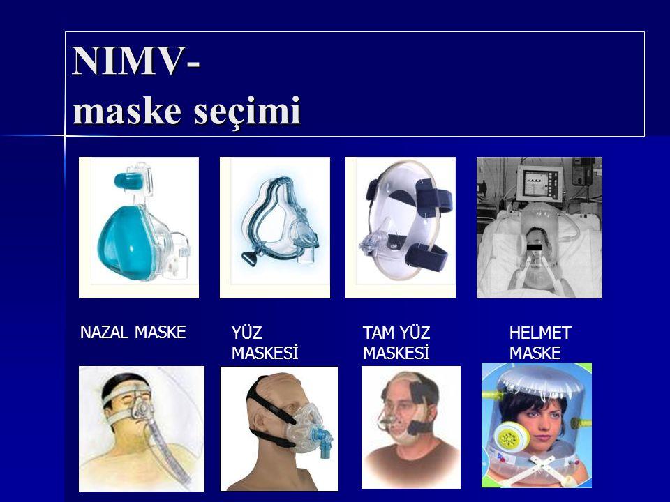NIMV- maske seçimi NAZAL MASKE YÜZ MASKESİ TAM YÜZ MASKESİ