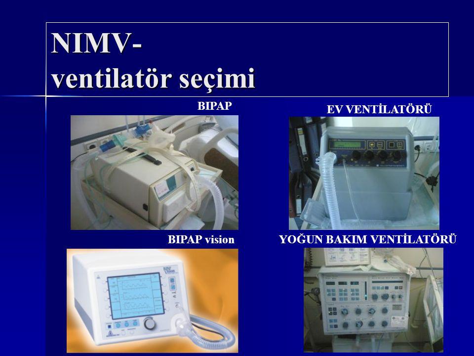NIMV- ventilatör seçimi