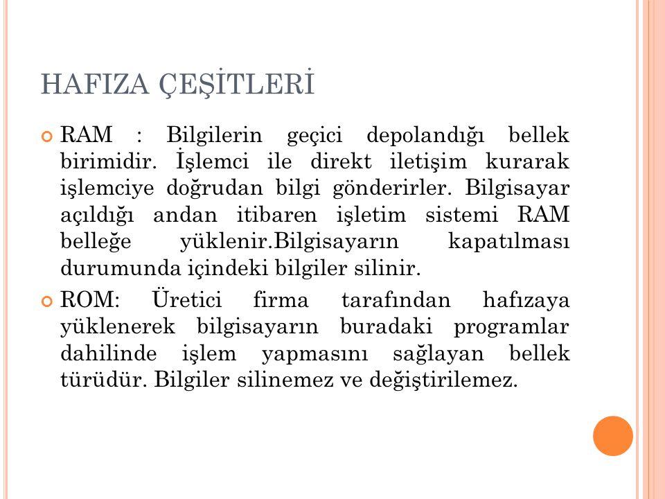HAFIZA ÇEŞİTLERİ