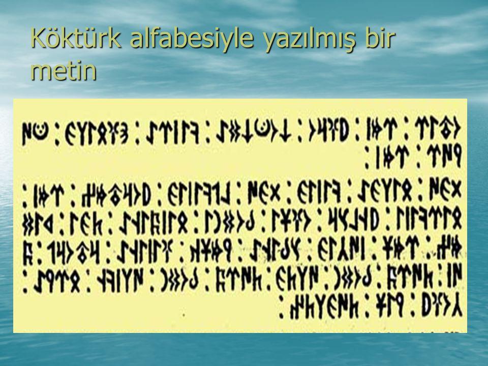 Köktürk alfabesiyle yazılmış bir metin
