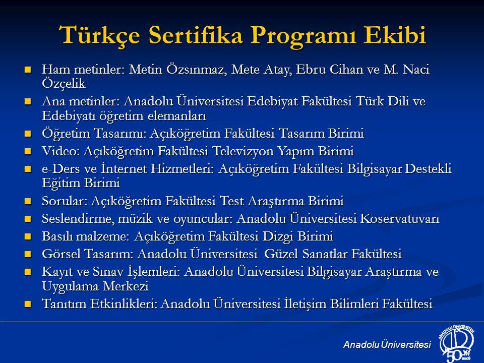 Türkçe Sertifika Programı Ekibi