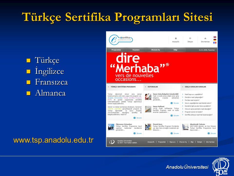 Türkçe Sertifika Programları Sitesi