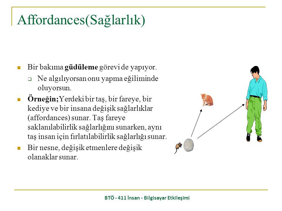 Affordances(Sağlarlık)