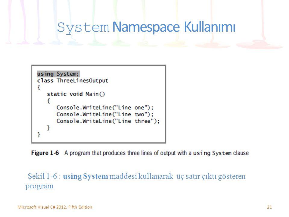 System Namespace Kullanımı