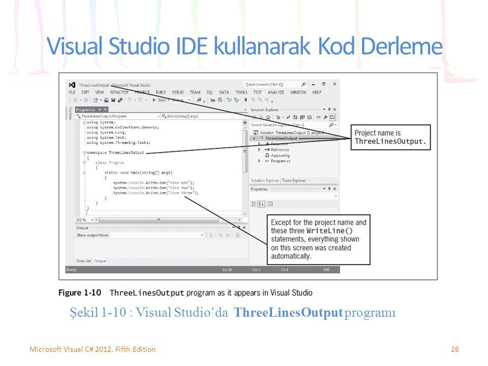 Visual Studio IDE kullanarak Kod Derleme