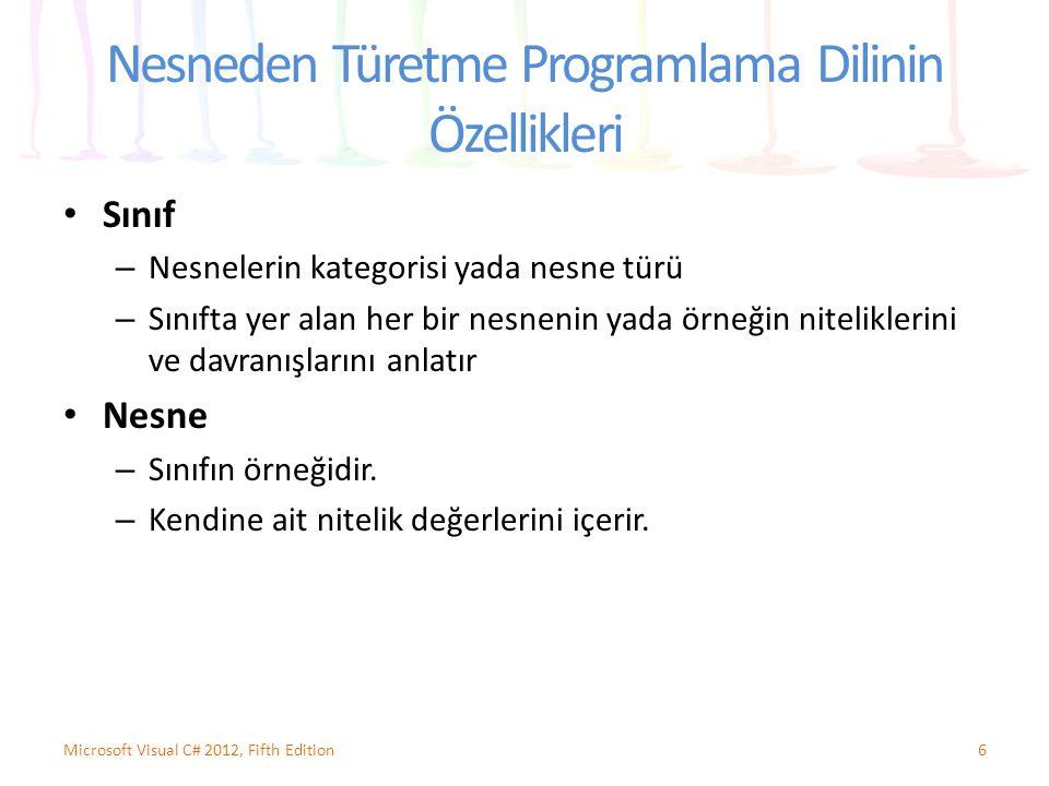 Nesneden Türetme Programlama Dilinin Özellikleri