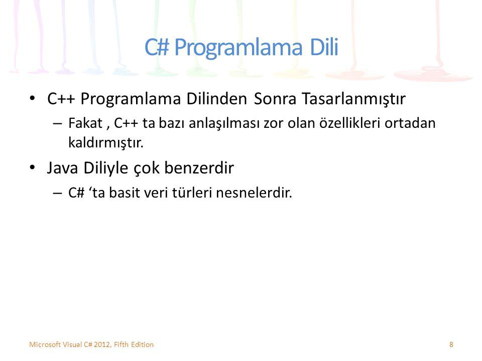 C# Programlama Dili C++ Programlama Dilinden Sonra Tasarlanmıştır