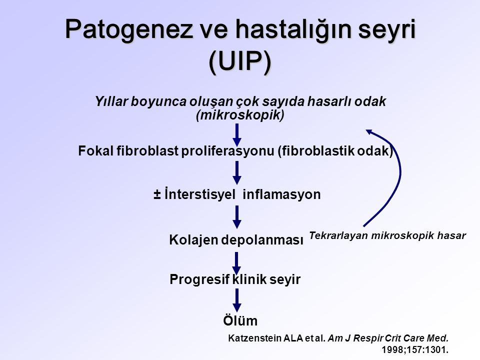 Patogenez ve hastalığın seyri (UIP)