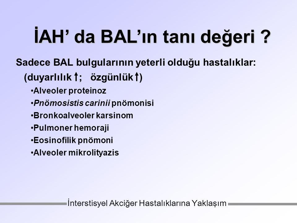 İAH' da BAL'ın tanı değeri