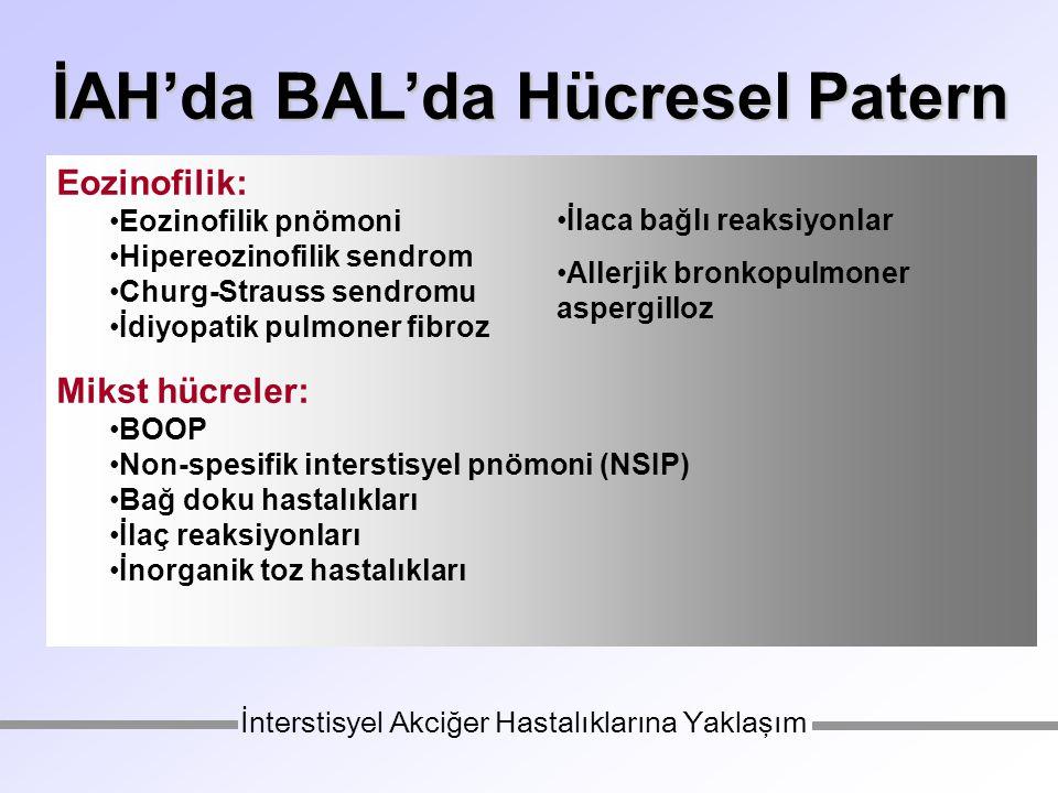 İAH'da BAL'da Hücresel Patern