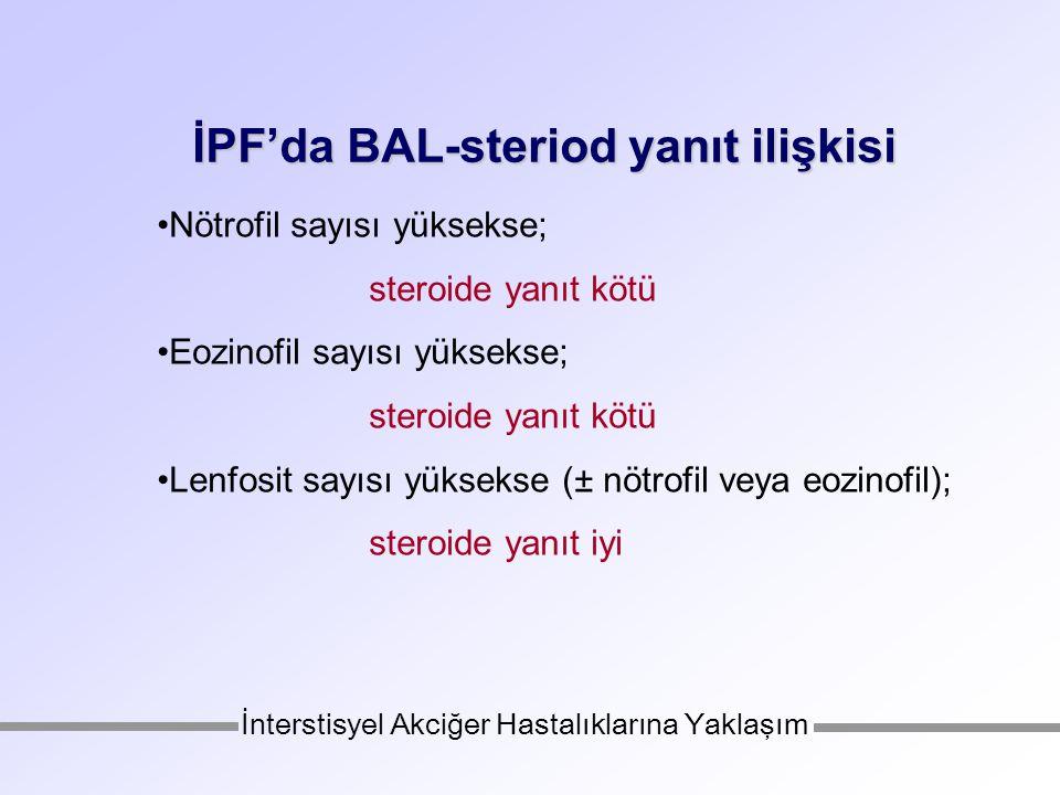 İPF'da BAL-steriod yanıt ilişkisi