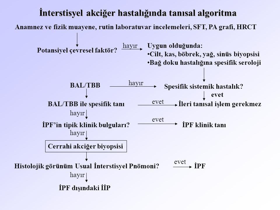 İnterstisyel akciğer hastalığında tanısal algoritma