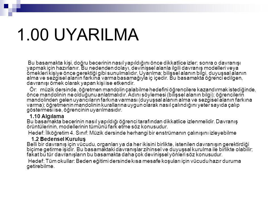 1.00 UYARILMA