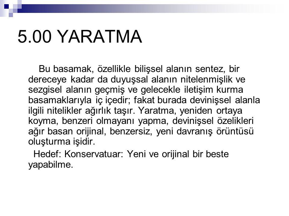 5.00 YARATMA
