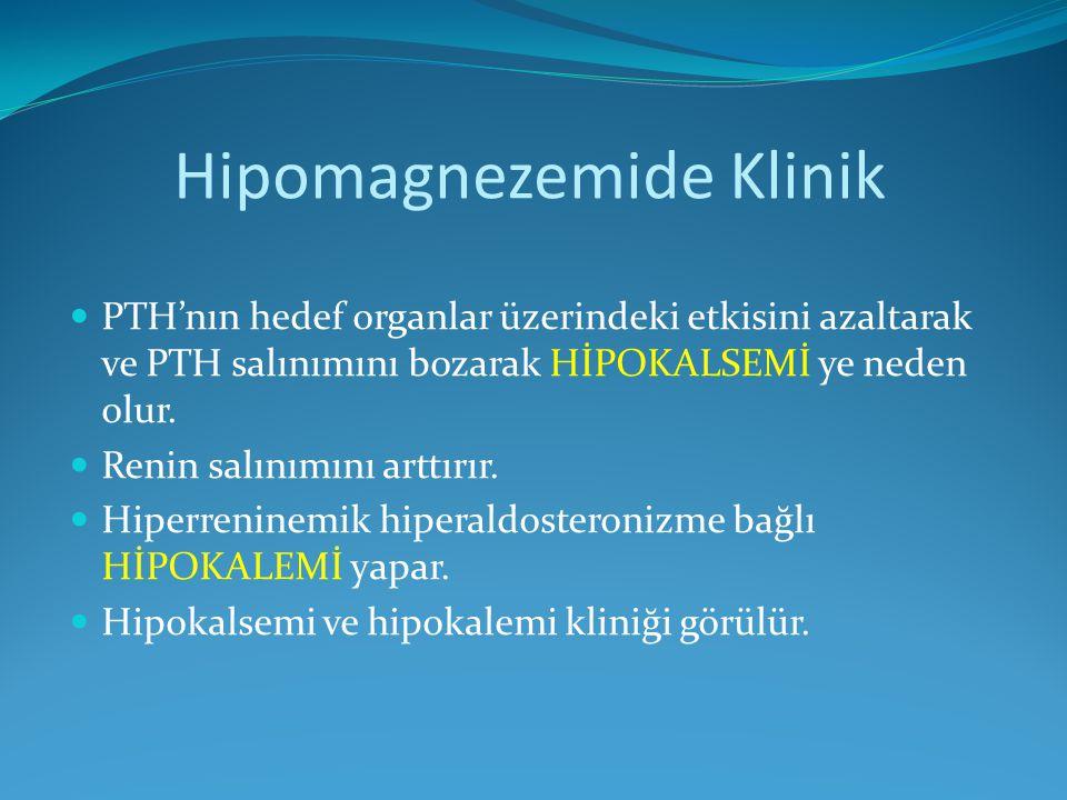 Hipomagnezemide Klinik