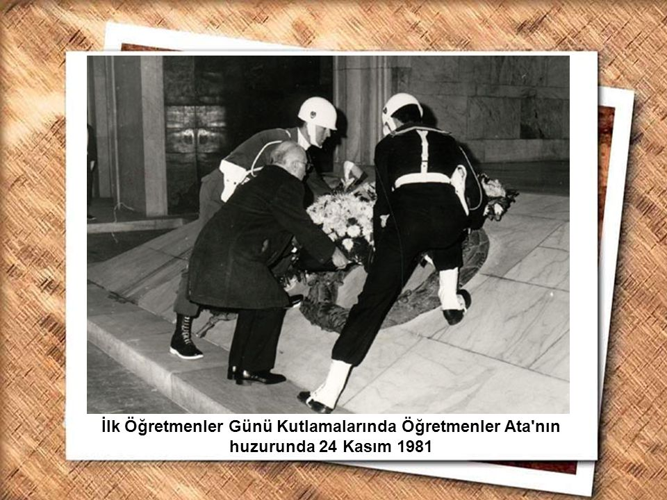 Cumhurbaşkanı Gazi Mustafa Kemal, İzmir Erkek Lisesinde matematik dersini izlerken (1 Şubat 1931)
