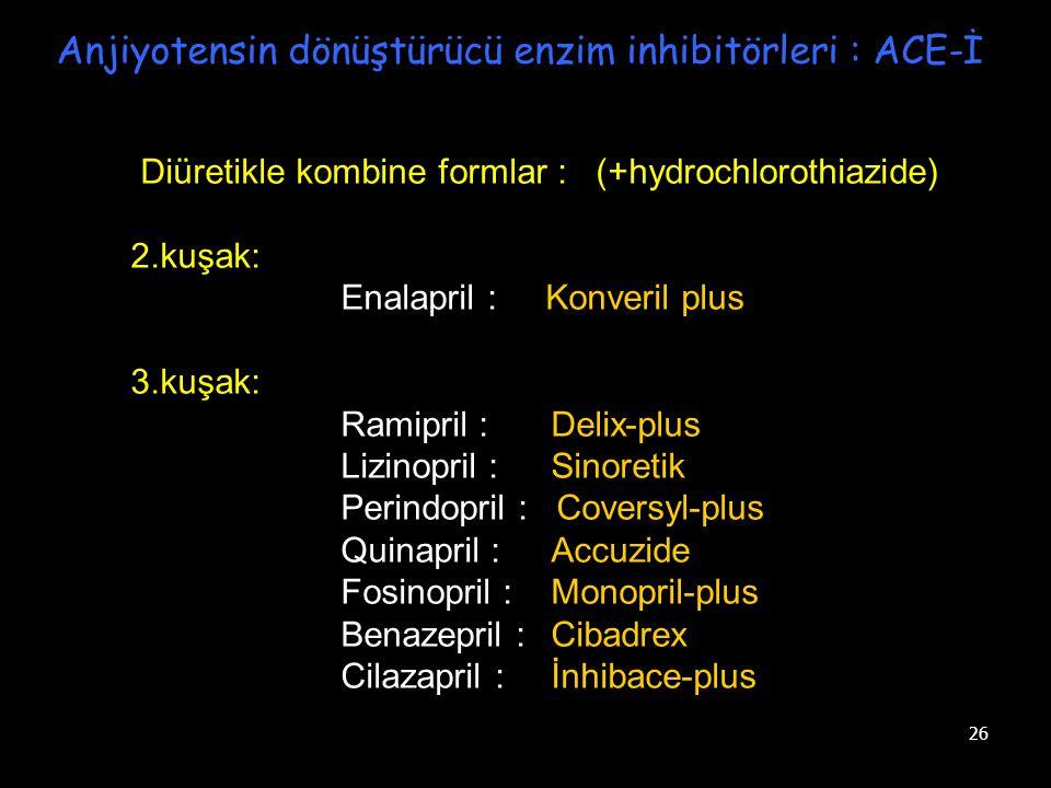 Anjiyotensin dönüştürücü enzim inhibitörleri : ACE-İ