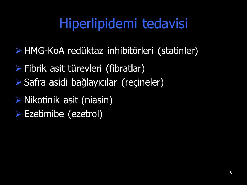 Hiperlipidemi tedavisi